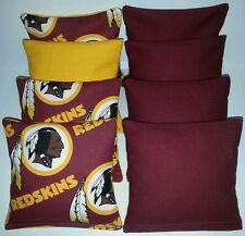 WASHINGTON REDSKINS 8 CORNHOLE BEAN BAG TOSS BAGGO NFL Top Quality Handmade! NEW