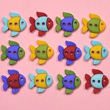 DRESS IT UP Buttons Sew Cute Fish 6932 - Embellishments