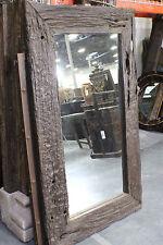 "60"" T Wall Mirror Rustic Wood Frame Dark Brown SLC UT Furniture Sale Event"
