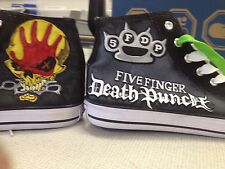 Five Finger Death Punch Pintado a Mano Alta Top Zapatos Personalizados A Pedido