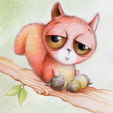 Squirrel with Big Eyes Birthday Card or any occasion Adult/Child cute sketch