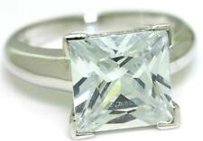 6.5ct Sparkling 9ct 9K 375 Solid White Gold Huge Solitaire Ring - 30 Day Return