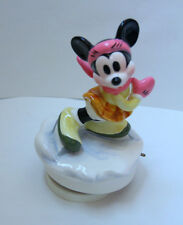 DISNEY SCHMID MUSIC BOX MINNIE MOUSE SKATING #3485/15000 COMMAND PERFORMANCE