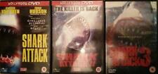 SHARK ATTACK TRILOGY 1,2,3 [One,Two,Three] Epic B-Movie Monster Horror DVD *EXC