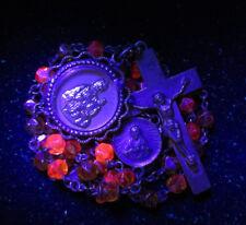 † SCARCE HTF ANTIQUE AMBERINA URANIUM HTF GLOWING ORANGE / YELLOW ROSARY †