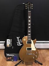 2016 Gibson Les Paul 50's Tribute Satin Gold Top W/ Gigbag Warranty Floor Model