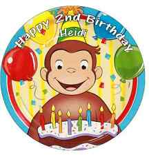 "Curious George Personalised Cake Topper 7.5"" Edible Wafer Paper"