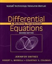 Differential Equations, Matlab Technology Resource Manual : A Modeling Perspecti