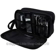 NEW Mens Classic TRAVEL Grooming Waterproof Washbag by Danielle Toiletries Black