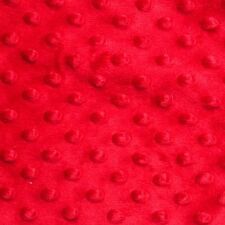 """Red Minky Dot Cuddle Fabric - Sold By The Yard - 58""""/ 60"""""""