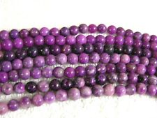 Sugilite beads all natural 6mm round 15 inch strand 60 plus beads for stringing