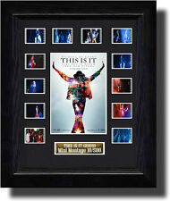 THIS IS IT  FILM CELL MEMORABILIA MICHAEL JACKSON poster prop
