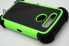for blackberry black berry torch 9850 / 9860 case soft hard 3 layer green black/