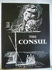 THE CONSUL Souvenir Program MENOTTI / PATRICIA NEWAY / MARIE POWERS London