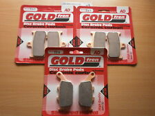 GOLDFREN FRONT & REAR BRAKE PADS (3x Sets)for TRIUMPH 675 DAYTONA 2006 2007 2008