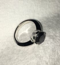 2.55 CT Black Diamond Ring Size 7 Sterling Silver Natural DIAMOND! Amazing Price