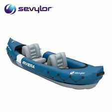 New Sevylor Riviera 2 Man Person Kayak Inflatable Canoe Blow Up Boat 205514