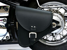 (B3) Leather Swingarm Single Side Pannier Saddle Bag Harley-Davidson Softail