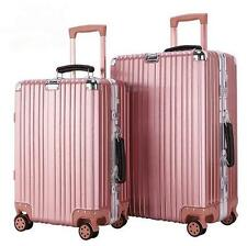 Women Girl Pink Luggage Travel Set Bag ABS Trolley Suitcase limit buy size 20""
