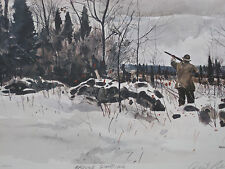 GROUSE SHOOTING BY CHET RENESON GROUSE HUNTING PRINT