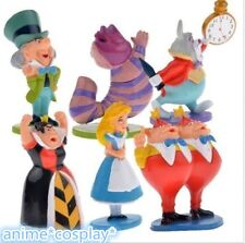 ALICE IN WONDERLAND PVC Mini Cake Toppers Figure Toy Doll 6pcs set NEW