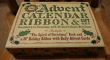 Unused Cider Mill Advent Calendar Ribbon & Gift Set Christmas Holiday