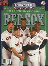 1999 Boston Red Sox Yearbook--Garciaparra/Martinez/Saberhagen