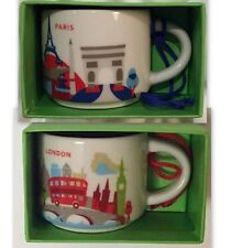 Starbucks Paris London Mug YAH Ornament Demi You Are Here Christmas New Coffee