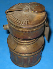 ANTIQUE BRASS COAL MINE MINING GUYS DROPPER CARBIDE LAMP LANTERN LIGHT