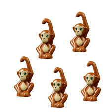 LEGO 5 pcs NEW Friends Dark Orange ORANGUTAN BABY Monkey Zoo Animal Minifigure