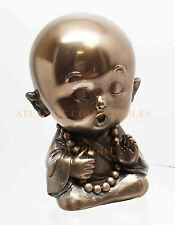 "Joyful Baby Monk Buddha Collectible Statue Decoration Figurine 3""H Luck Joy"