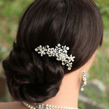 Hot Bridal Hair Accessories Wedding Pearl Leaf Branch Hair Comb Clip Bridesmaid