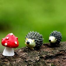 Mossfairy Miniature Ornament Hedgehog Mushroom Set Decor Fairy Garden