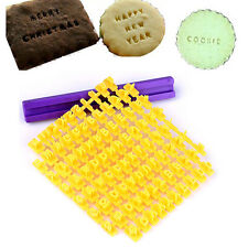 Alphabet Letter Number Cookie Press Stamp Embosser Cutter Fondant Mould New