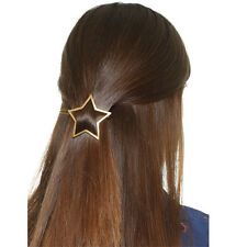 2pcs Women Star Hollow Out Geometry Triangle Hair Clip Hairpin Snap Barrette