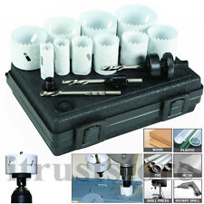 Bi Metal Hole Saw Set Bimetal Holesaw Kit 13 PC Piece New For Precise Cutting