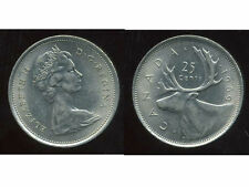 CANADA 25 cents  1969  ( bis )