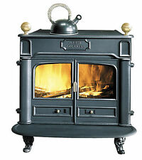 NEW 9.5kw Godin Colonial Franklin Antique Style Cast Iron Wood Stove Black