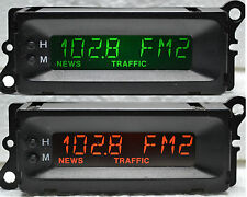 Refurbished Freelander Rover MG 8 Pin Clock Radio Display Green Orange Red Blue