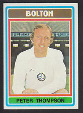 Topps - Footballers (Blue Back) 1976 - # 274 Peter Thompson - Bolton