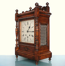 RARE Clock Westminster Antique 1870s 21.8 Inch WHITTINGTON 8 Bells! Mantel/Shelf