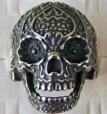 CRAZY _ SCULL   ~ S/STEEL ~ SIZE:10 ~ RING -- (GREAT_GIFT)
