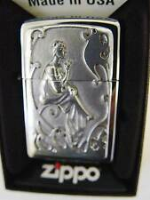 ZIPPO ® nostalgia SMOKING LADY WOMAN con ornamenti PIASTRA NEW NUOVO OVP