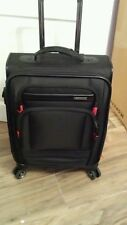 Samsonite Prowler Black Canvas Spinner Cabin Size Suitcase