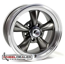 "15x7-15x8 GRAY NEW REV CLASSIC 100 WHEELS 5x4.75"" CLASSIC GM WITH FREE LUGS"