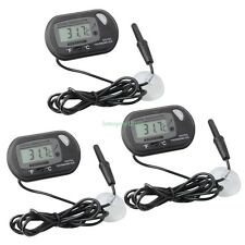 3 pcs LCD Digital Fish Aquarium Thermometer Water Black FREE Extra Batteries