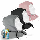 Inflatable Hoody Travel Neck Pillow In Super-Soft Fleece Material