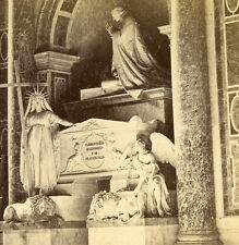ANTONIO CANOVA'S SCULPTURED MONUMENT POPE CLEMEMT XIII TOMB STEREOVIEW ROME