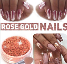 Hot Rose Gold Nail Mirror Powder Nails Glitter Chrome Powder Nail Art Decoration