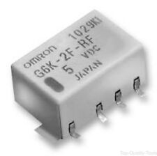 OMRON ELECTRONIC COMPONENTS, G6K-2F-RF-DC5, RELAY, HF DPDT 5VDC